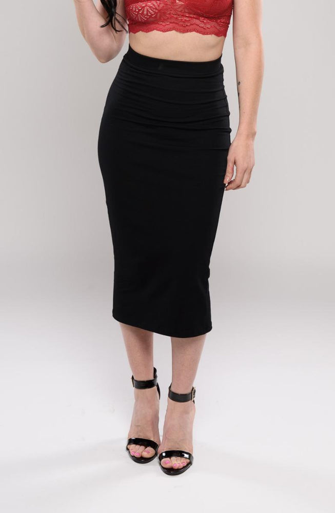 Lila black huggy skirt