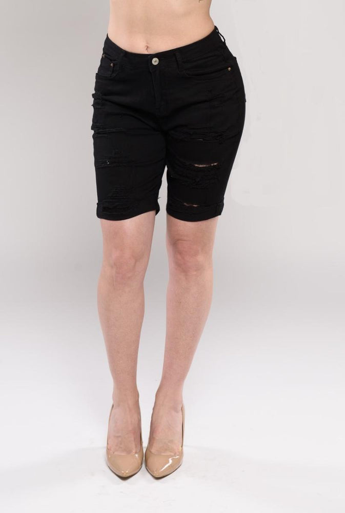 Chloe black denim shorts