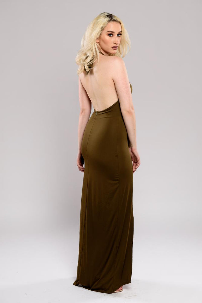 Maya backless dress