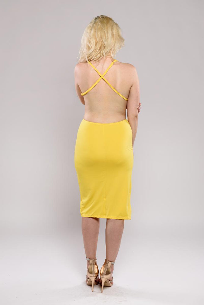 Sharmain twist crossback dress