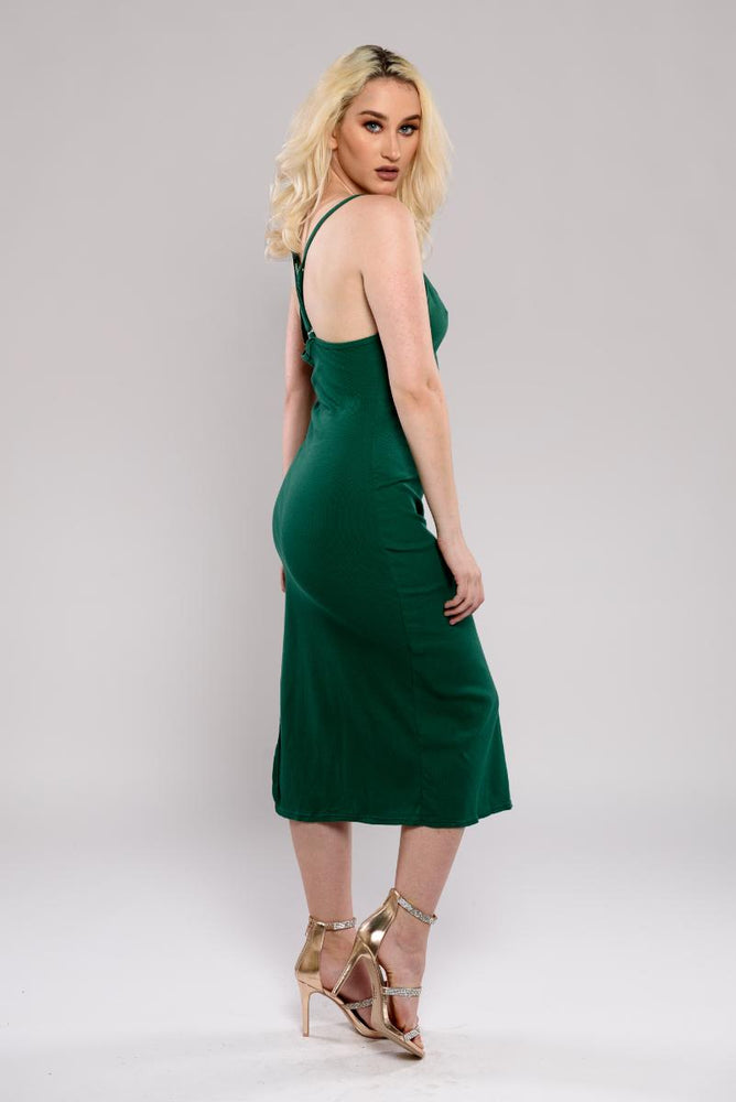 Rumi slit midi dress