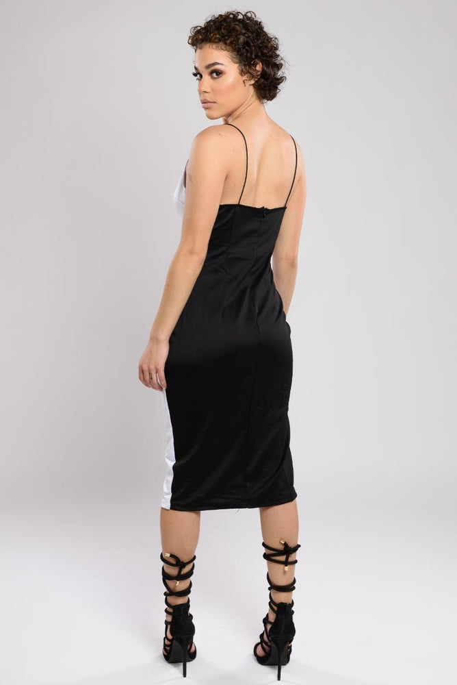 Mariah two tone slit dress