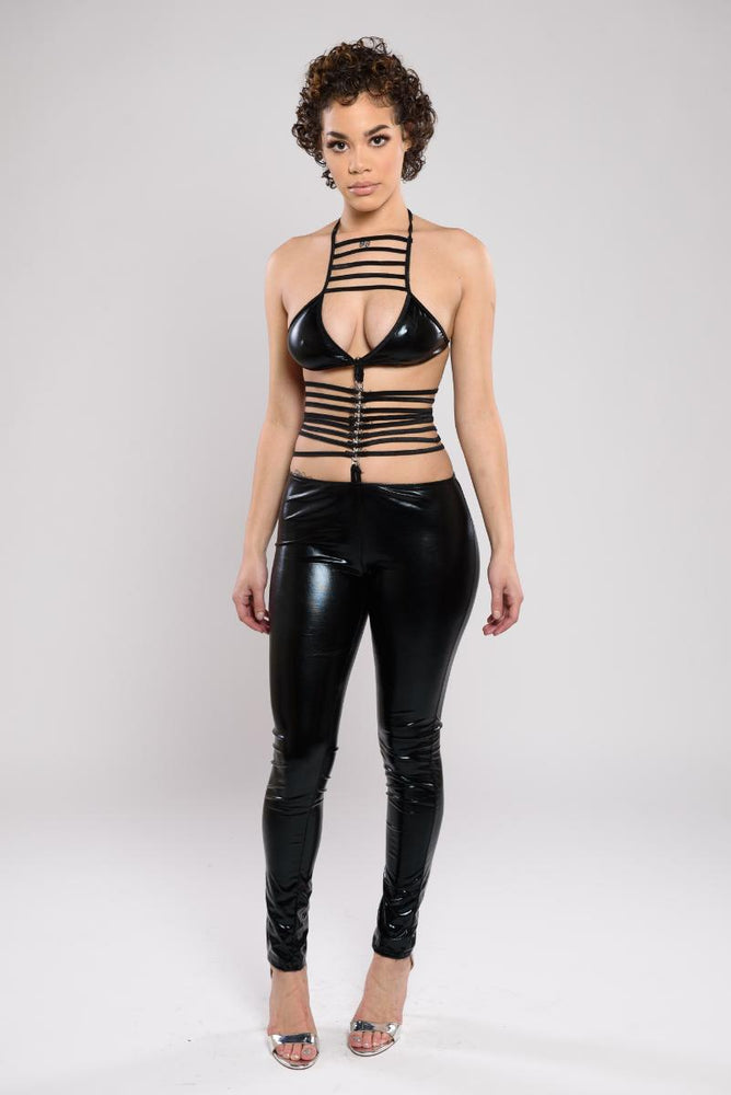Phoebe leather jumpsuit