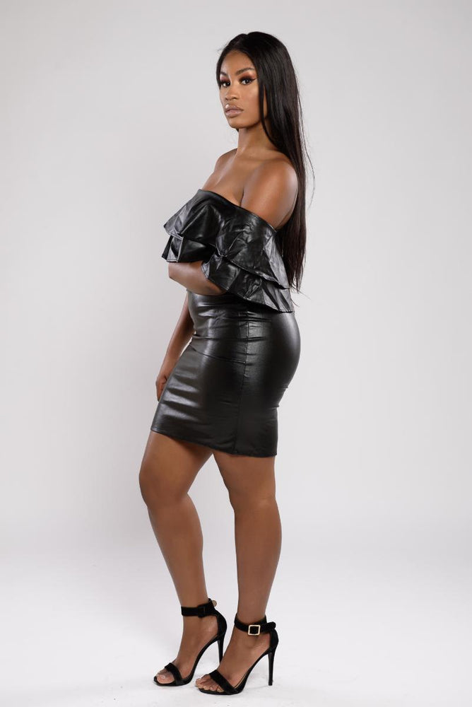 Sierra Leather Shoulder Dress