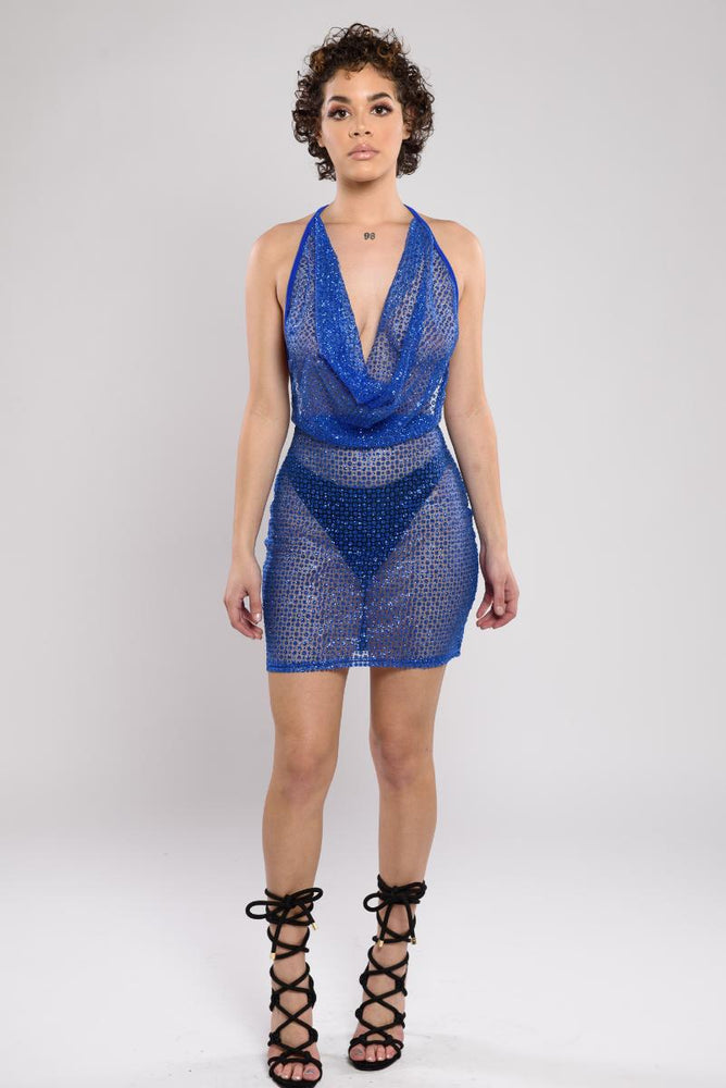 Cara shimmer see through dress