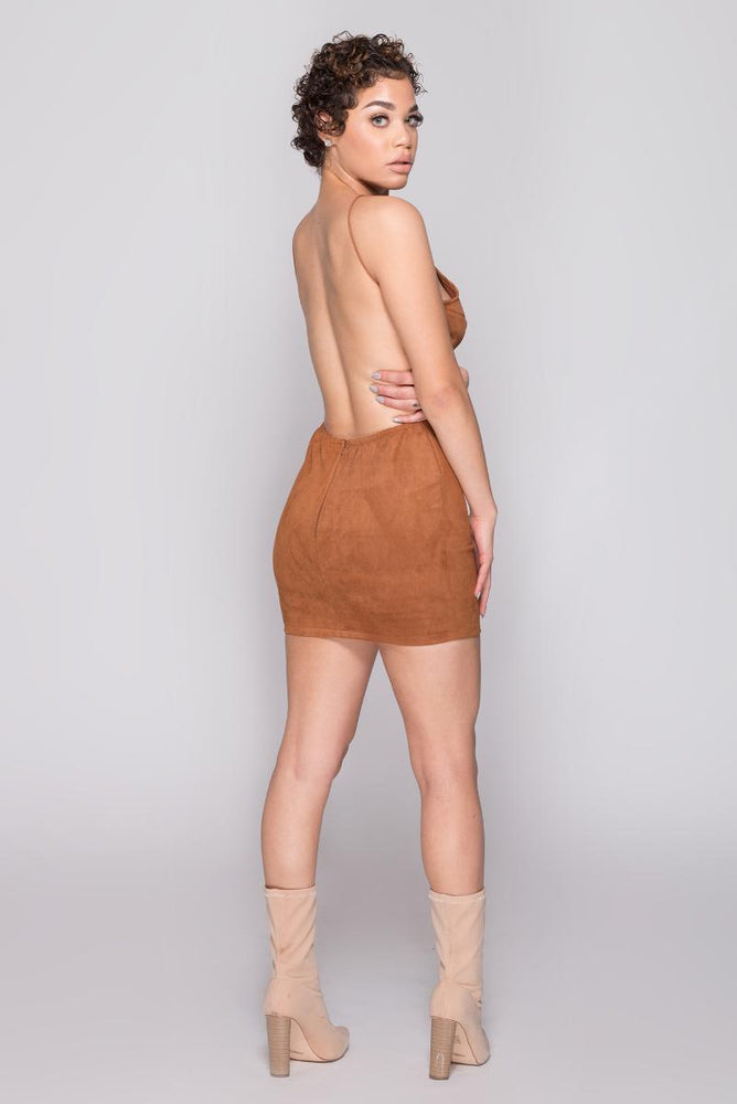 Linda backless fitted dress