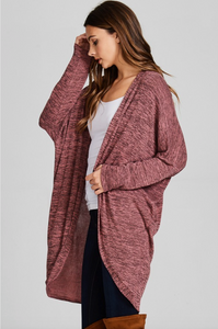 Blush Soft Two Tone Circle Cardigan