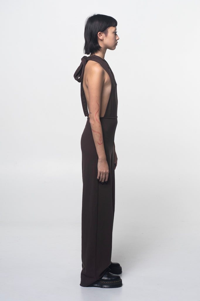 HALTER NECK JUMPSUIT.