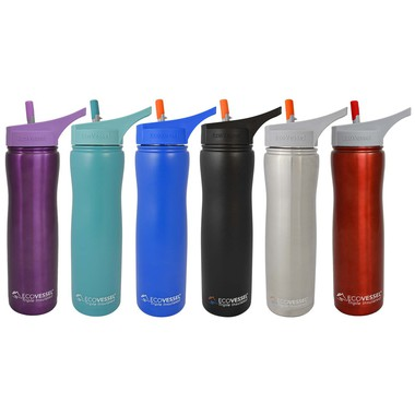 Summit Triple Insulated SS Bottle with Straw