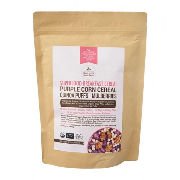 Purple Corn Quinoa Puffs Mulberry Cereal
