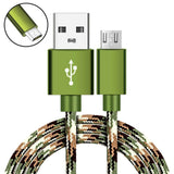 Agoz Micro USB Braided 4,6,10ft CAMO Tactical FAST Charger Game Cable