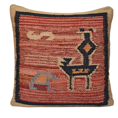 Handmade Kilim Bird Cushion Covers - DesignsEmporium