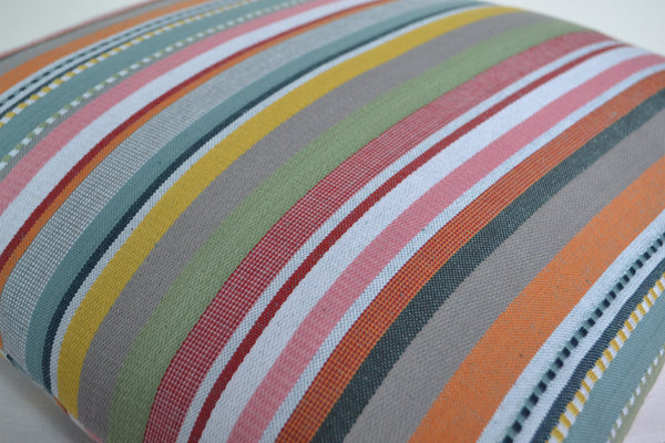 "Rainbow Cushion Cover Colourful Woven Stripes 45cm x 45cm 18"" - DesignsEmporium"