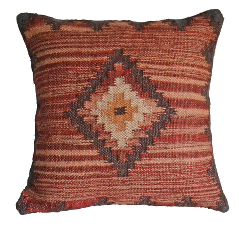 Handmade Cushion Covers Kilim Diamond Maroon
