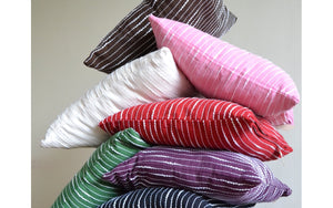 Stripe Cotton Cushion Cover 16x16 - DesignsEmporium