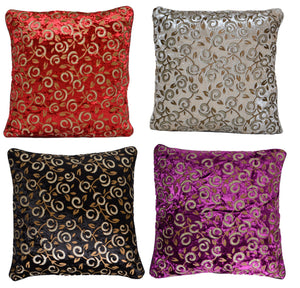 Decorative Velvet Cushion Covers Glitter Print 40x40 - DesignsEmporium