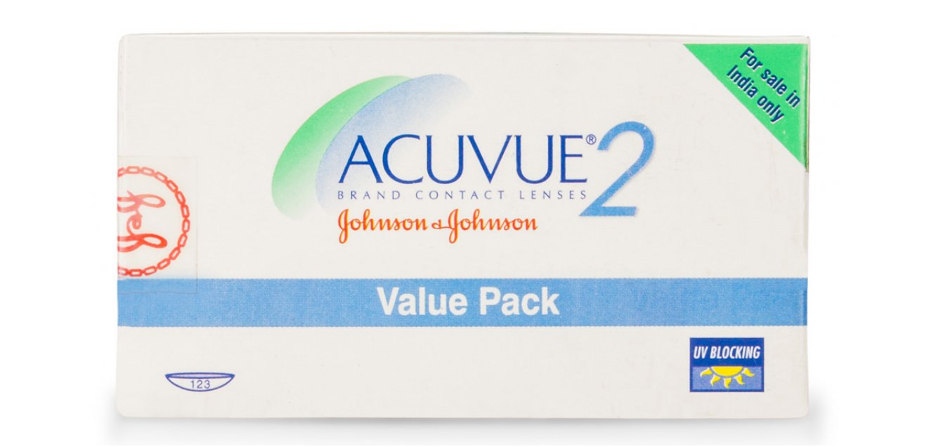 ACUVUE2 Value Pack (12 Lens per Box) Johnson & Johnson Contact Lens