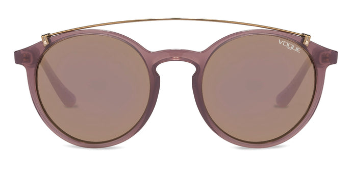 Vogue VO5161 Medium (Size-51) Pink Transparent Pink Mirror 25355R Women Sunglasses