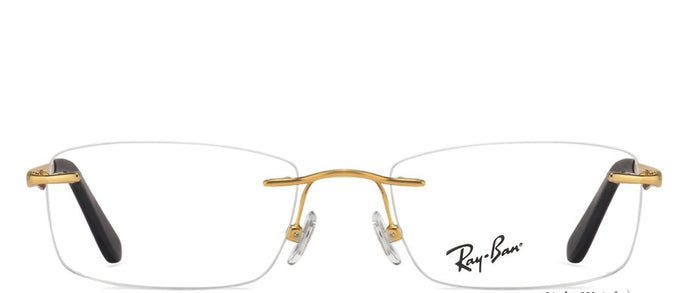 5fa27214851 Ray-Ban Rx6303 Medium (Size-51) Golden Black02500 Unisex Eyeglasses