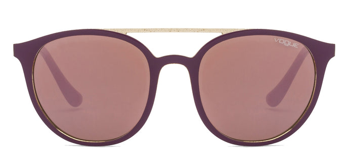 Vogue VO5195S Small (Size-52) Purple Golden Design Purple Mirror 25925R Women Sunglasses