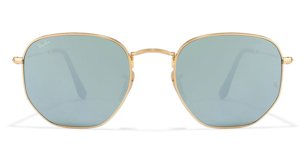 Ray-Ban RB3548 Medium (Size-51) Golden Silver Mirror Unisex Sunglasses