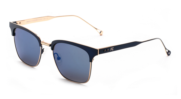 French Connection FC-423-C2 Matt Blue Gold Club master Sunglasses
