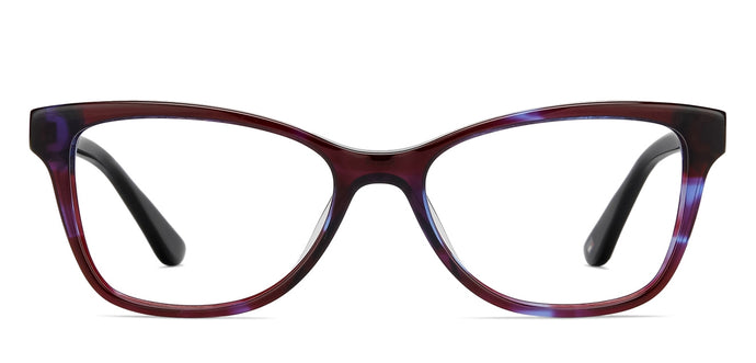 Tommy Hilfiger TH1008 Medium (Size-52) Maroon Blue Transparent C5 Women Eyeglasses