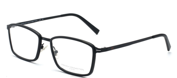 French Connection FC-8064-C3 Black Rectangle Eyeglasses