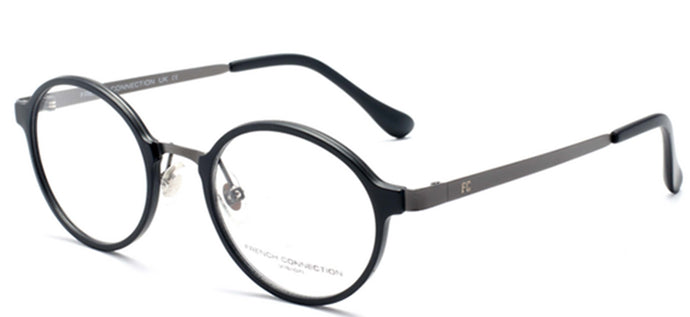 French Connection FC-8062-C2 Matte Black Round Eyeglasses