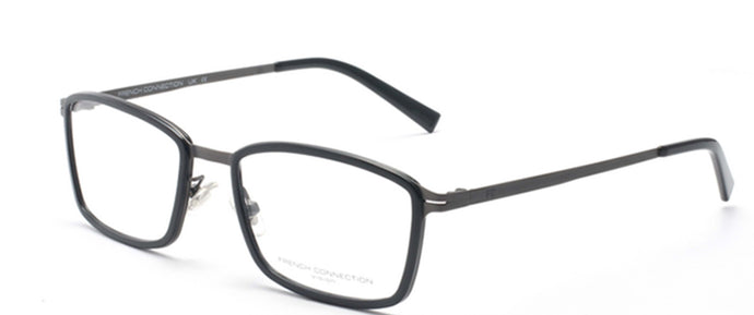 French Connection FC-8064-C1 Matte Black Rectangle Eyeglasses