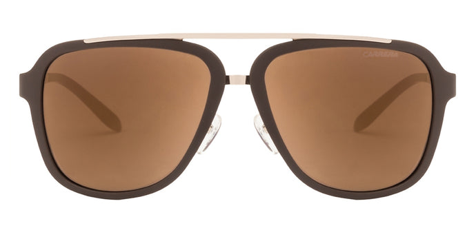 Carrera 97/S Large (Size-57) Golden Brown Grey Mirror Unisex Sunglasses