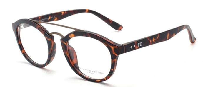 French Connection FC-8061-C3 Matte Havana Brown Oval Eyeglasses