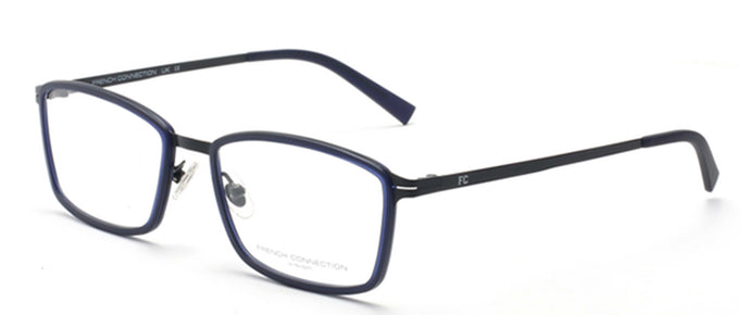French Connection FC-8064-C2 Matte Blue Rectangle Eyeglasses