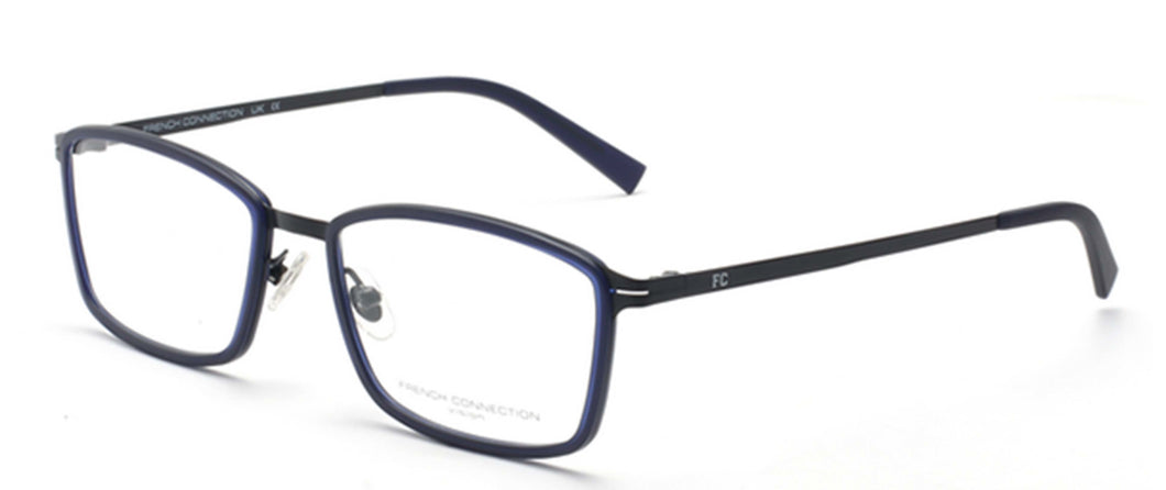 FCUK FC-8064-C2 Matte Blue Rectangle Eyeglasses