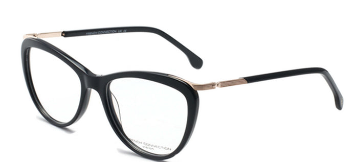 French Connection FC-8068-C1 Black Cateye Eyeglasses