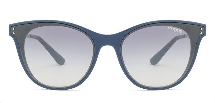 Vogue VO5205S Medium (Size-62) Dark Blue Gunmetal Grey Mirror 24167B Women's Sunglasses