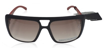French Connection FC-7201-C2 oversized matte black red sunglasses