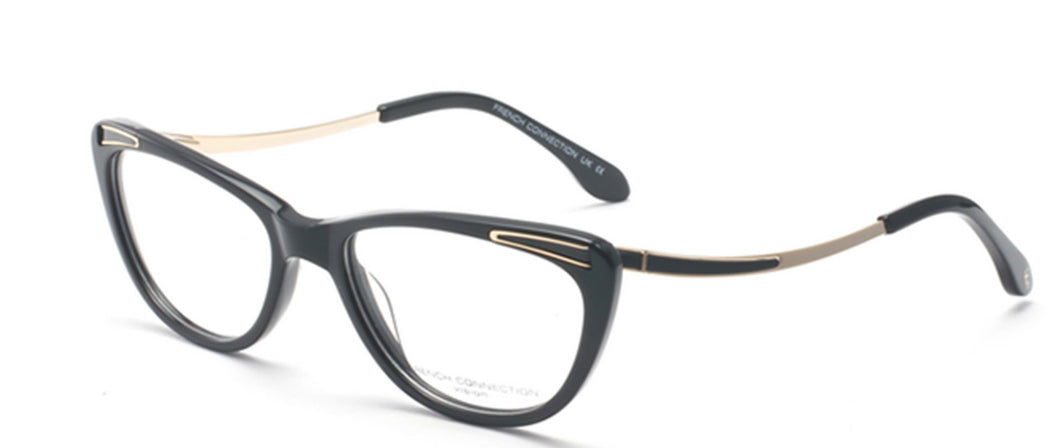FCUK FC-8066-C1 Black/Gold Cateye Eyeglasses