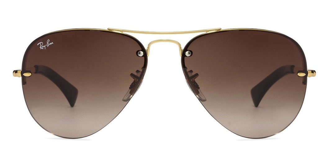 Ray-Ban RB3449 Large (Size-59) Golden Brown Gradient 001/13 Unisex Sunglasses
