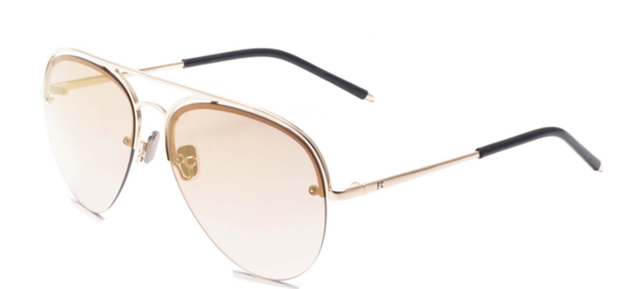 French Connection FC-7400-C1 Gold Aviator Sunglasses