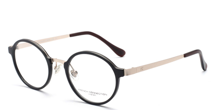 French Connection FC-8062-C3 Matte Brown Round Eyeglasses