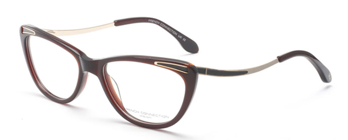 French Connection FC-8066-C3 Brown/Gold Cateye Eyeglasses