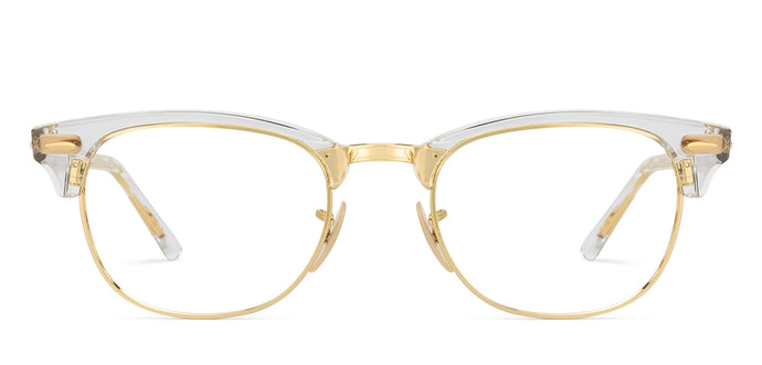Ray-Ban RX5154 Medium (Size-51) Golden 5762 Unisex Eyeglasses
