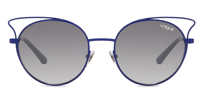 Vogue Vogue VO4048 Medium (Size-52) Blue Grey Blue Silver Mirror 5047B Women Sunglasses