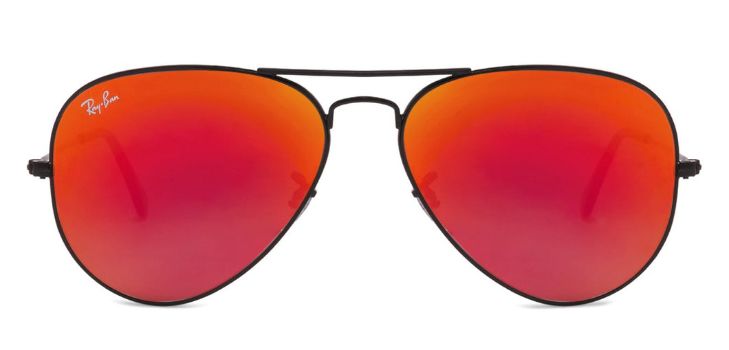 Ray-Ban RB3025 Medium (Size-58) Black Red Mirror 002/4W Unisex Sunglasses