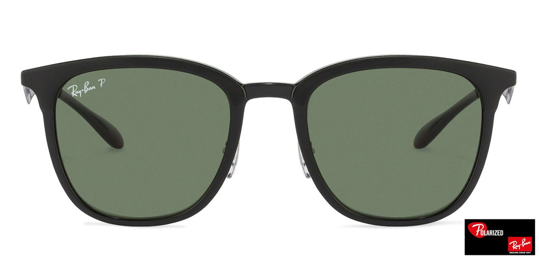 Ray-Ban RB4278 Medium (Size-51) Black Green Unisex Polarized Sunglasses