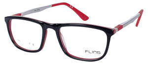 Fling Rimmed Square Eyeglasses- 1012_F6 | 50 mm