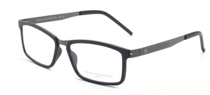 French Connection FC-8063-C2 Matte Black Rectangle Eyeglasses