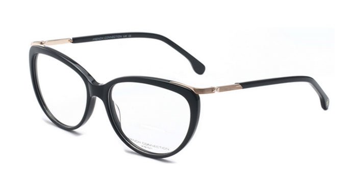 French Connection FC-8067-C1 Black Oval Eyeglasses