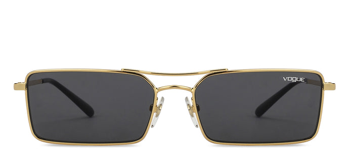 Vogue VO4106S Large (Size-55) Golden Black Grey 280/87 Unisex Sunglasses